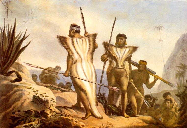 Botocudos em marcha, Debret, 1834